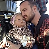 Aaron Paul shared a picture from the Breaking Bad set holding some suspicious props. Source: Instagram user glassofwhiskey