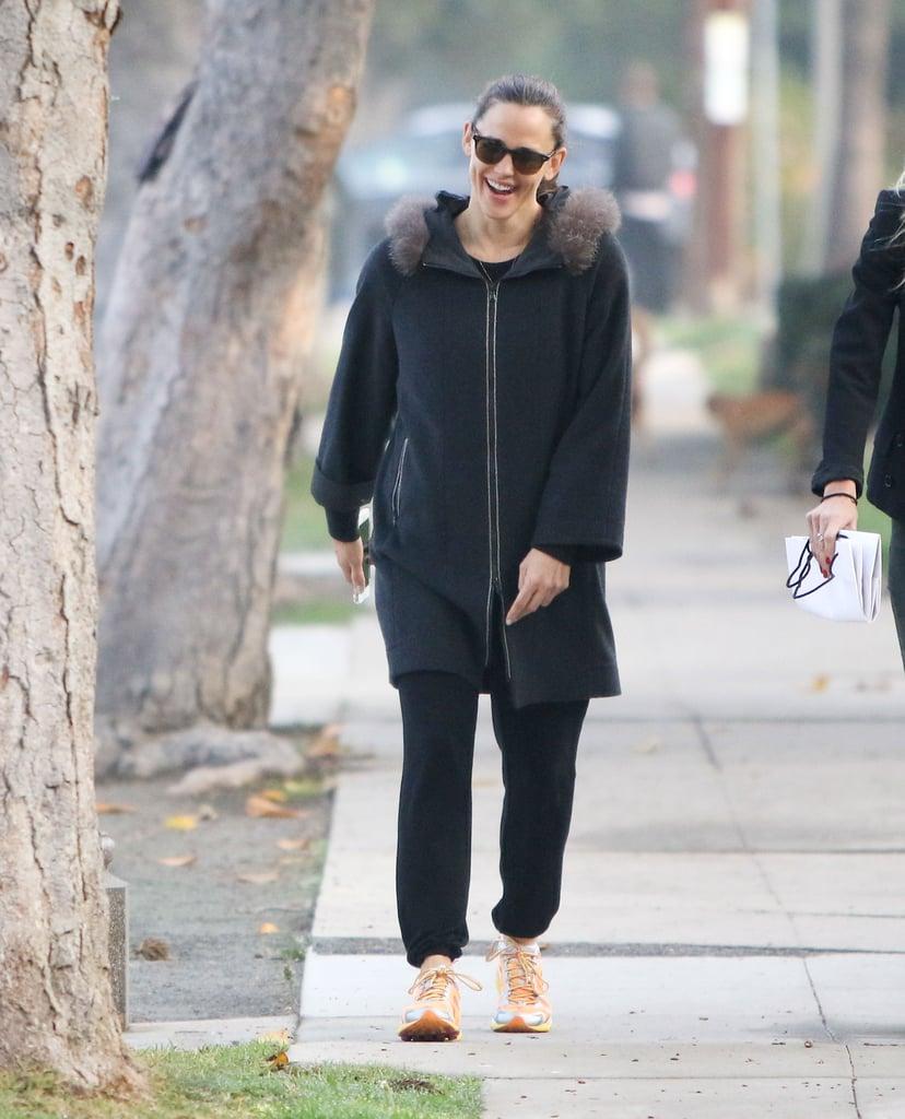 Jennifer Garner Laughing With a Friend in LA December 2016