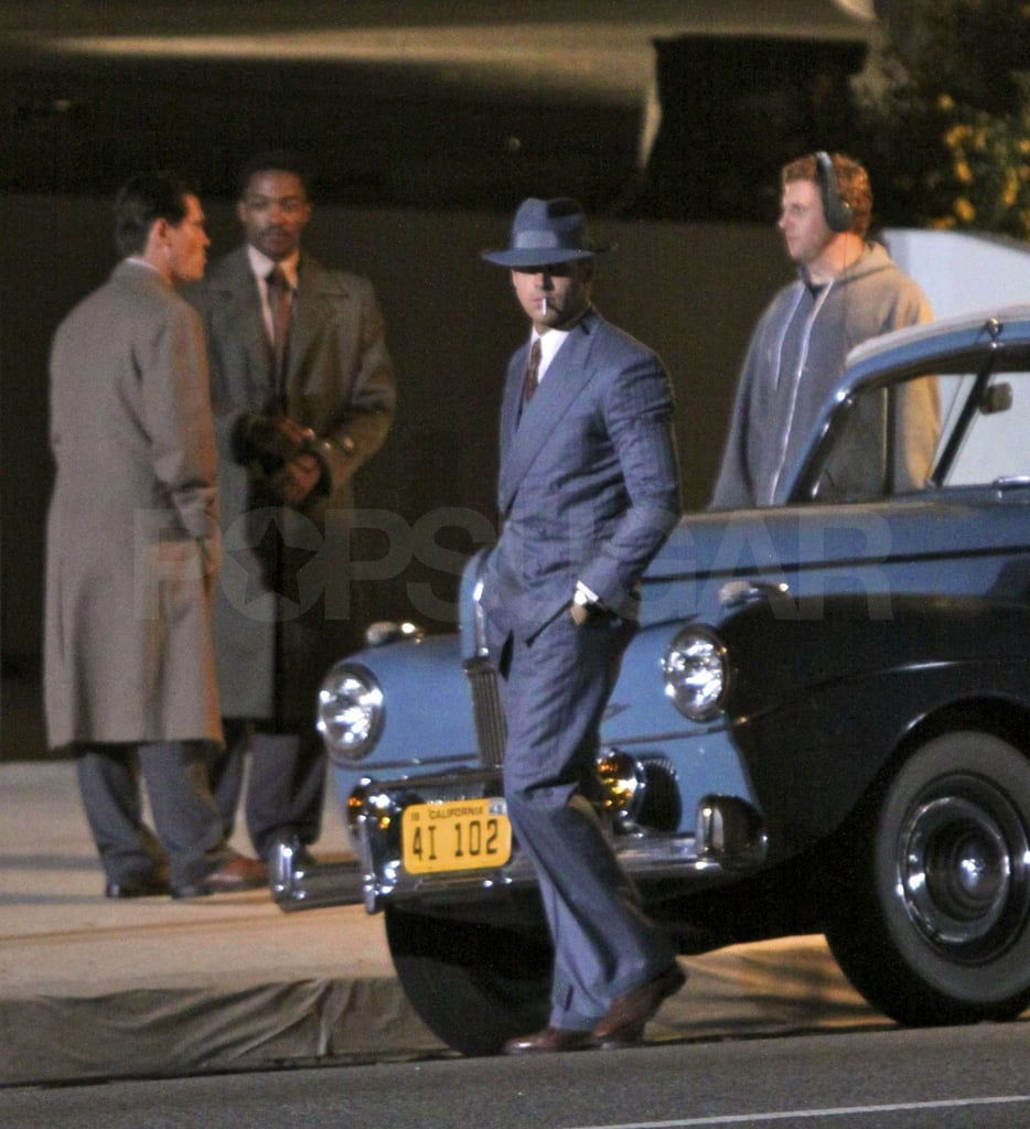 Josh Brolin and Anthony Mackie were spotted on set with Ryan Gosling.