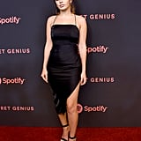 Charli once again opted for an LBD when she attended Spotify's second annual Secret Genius Awards.