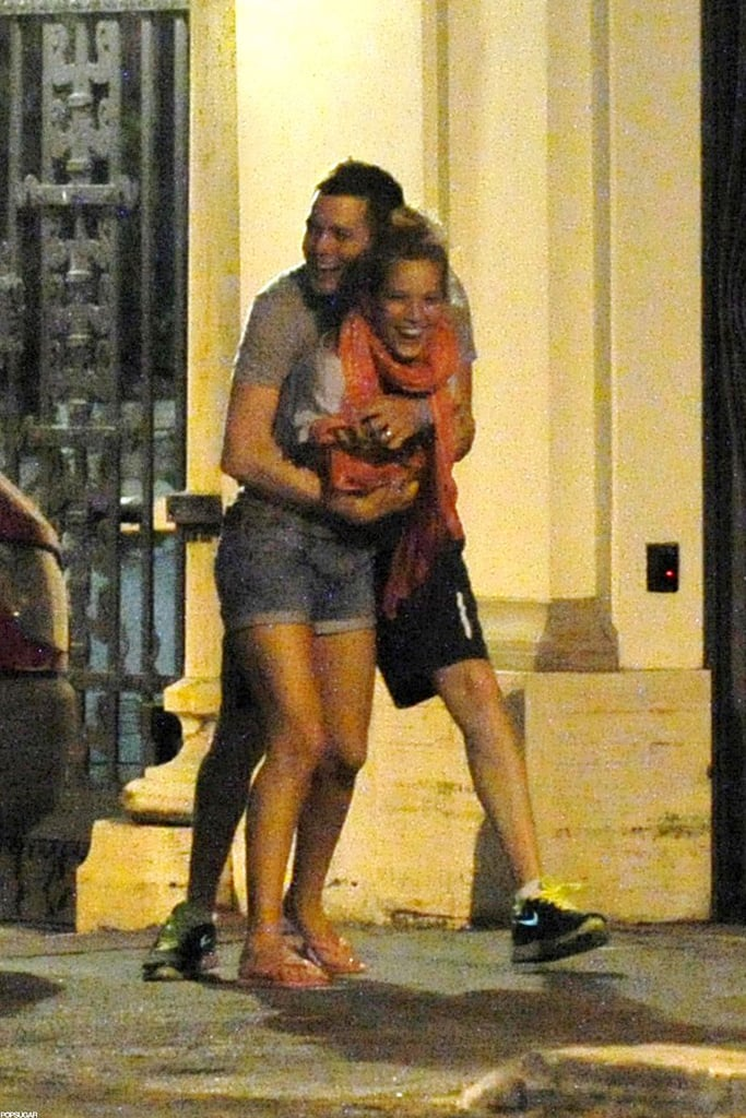 I love when celebrities let loose on vacation. This photo of Michael Bublé giving wife Luisana Lopilato a giant bear hug during their romantic July stay in Rome put a smile on my face. I think we can all agree that she's one lucky lady.  — Katie Henry, associate editor