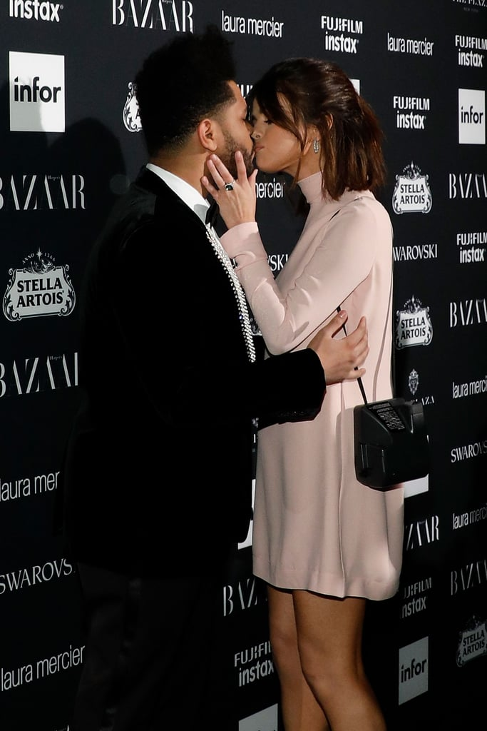 If there's one couple we can't get enough of, it's The Weeknd and Selena Gomez. On Friday night, the two stepped out for a rare red carpet appearance at the Harper's Bazaar Icons party during New York Fashion Week. The couple dressed to the nines and were all about each other as they gazed lovingly into each other's eyes and shared a sweet kiss on the red carpet. While it was a big night for The Weeknd (he performed and was honored by the magazine), the lavish bash also marked the pair's second red carpet appearance together. They made their red carpet debut at the Met Gala back in May. Keep reading to see more of their PDA-filled date night.       Related:                                                                                                           Selena Gomez and The Weeknd Can't Keep Their Hands to Themselves When They're Together