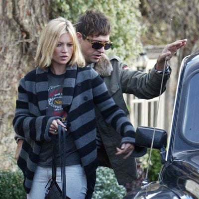 The Look For Less: Kate Moss's Gray and Black Striped Sweater