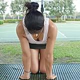 Reverse Kneeling Forearm Stretch