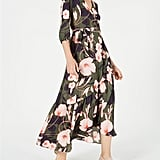 Bar III Printed Maxi Wrap Dress