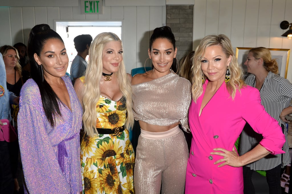 Brie Bella, Tori Spelling, Nikki Bella, and Jennie Garth at the Teen Choice Awards 2019