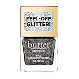 Butter London Peel-Off Glitter Nail Lacquer in Black Magic