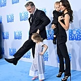 Alec Baldwin and His Family at Boss Baby Premiere March 2017