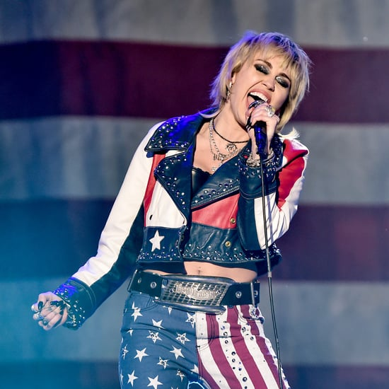 Miley Cyrus Trains on Treadmill For Super Bowl Pregame Show
