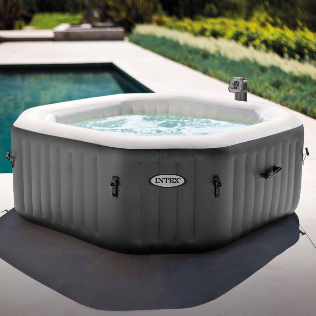 Intex 120 Bubble Jets 4-Person Octagonal Portable Inflatable Hot Tub Spa