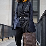 The new way to wear black is with navy. The two colors look so good together and it's pretty much the easiest combo you can pull off for all occasions.