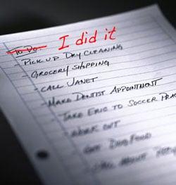 """""""I Did It"""" List"""