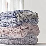 Amped Fleece Fringe Trim Throw Blanket