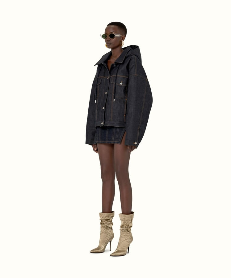 Image result for fenty OVERSIZED PADDED DENIM JACKET