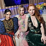 Camila Mendes, Lili Reinhart, and Madelaine Petsch at the Vanity Fair Oscars Party