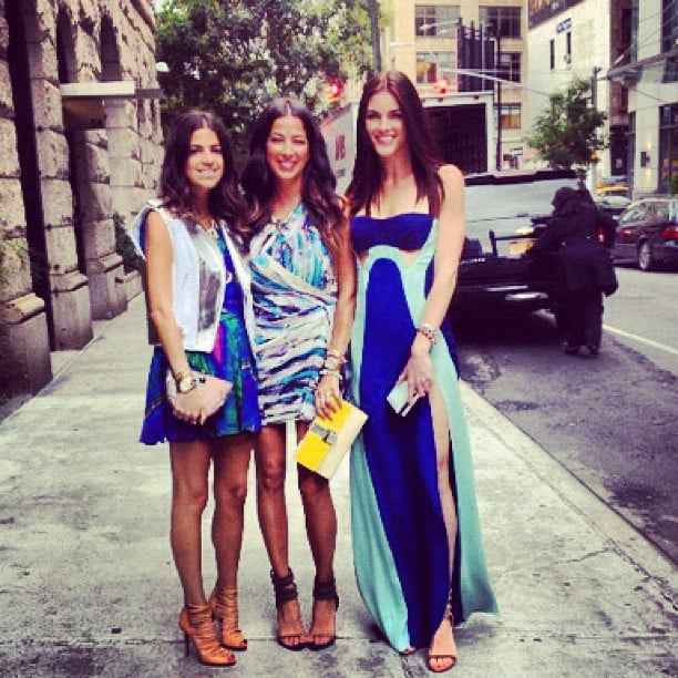 The Man Repeller (aka Leandra Mendine) posed with gal pals Rebecca Minkoff and Hilary Rhoda before heading off.
