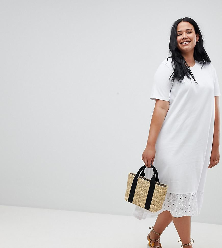 5f0eca01a31 ASOS Design Curve Midi T-shirt Dress