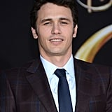 James Franco wore a plaid Gucci suit.
