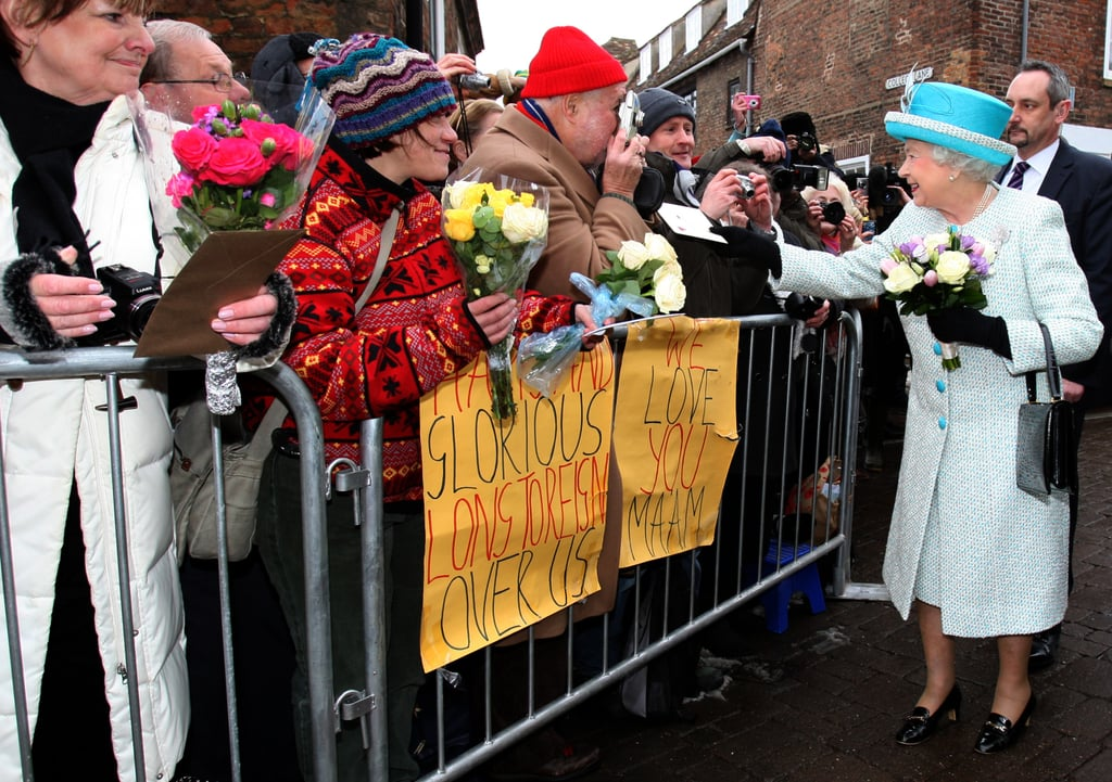 The queen greeted well wishers on Accession Day. Feb. 6 marked 60 years on the throne for the monarch.