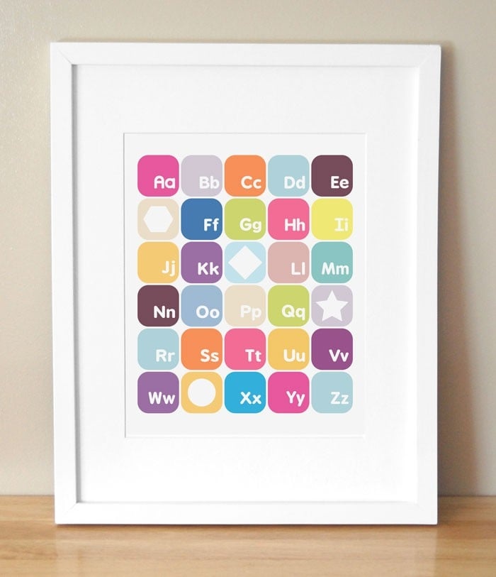 Sweet Alphabet Nursery Art