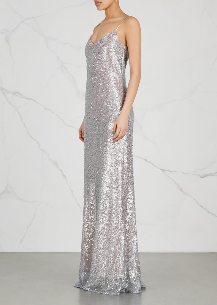 Galvan Estrella Sequined Gown | Melania Trump Sequined Chanel Dress ...