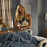 Is it just us, or does Hanna's look coordinate with Alison's hospital gown? #twinning
