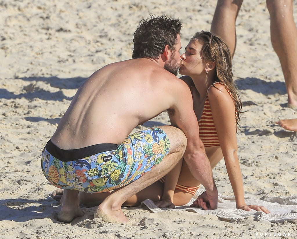 Liam Hemsworth Has a PDA-Filled Beach Day With GF Gabriella Brooks After Settling Divorce