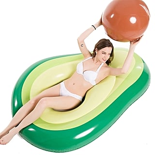 Avocado Pool Float With Beach Ball Pit