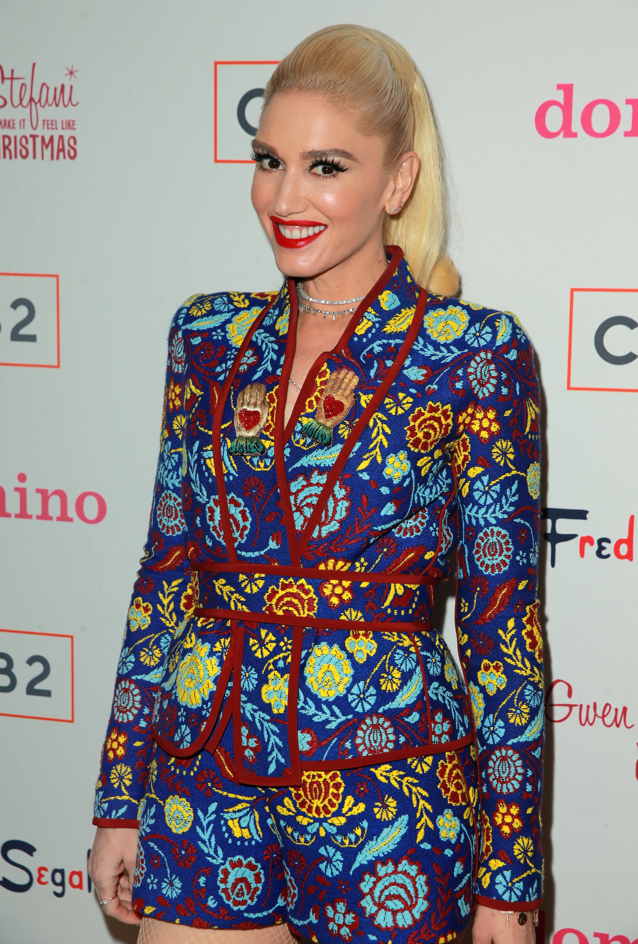 LOS ANGELES, CA - DECEMBER 07:  Gwen Stefani at Domino x Fred Segal and CB2 holiday Pop-Up Shop on December 7, 2017 in Los Angeles, California.  (Photo by Rich Fury/Getty Images)