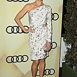 Julie Bowen opted for a printed white dress at the LA party.