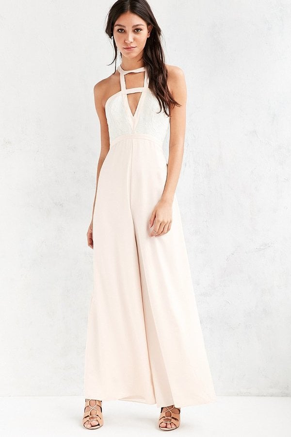 Silence + Noise Origami Plunging Silk Jumpsuit ($149)