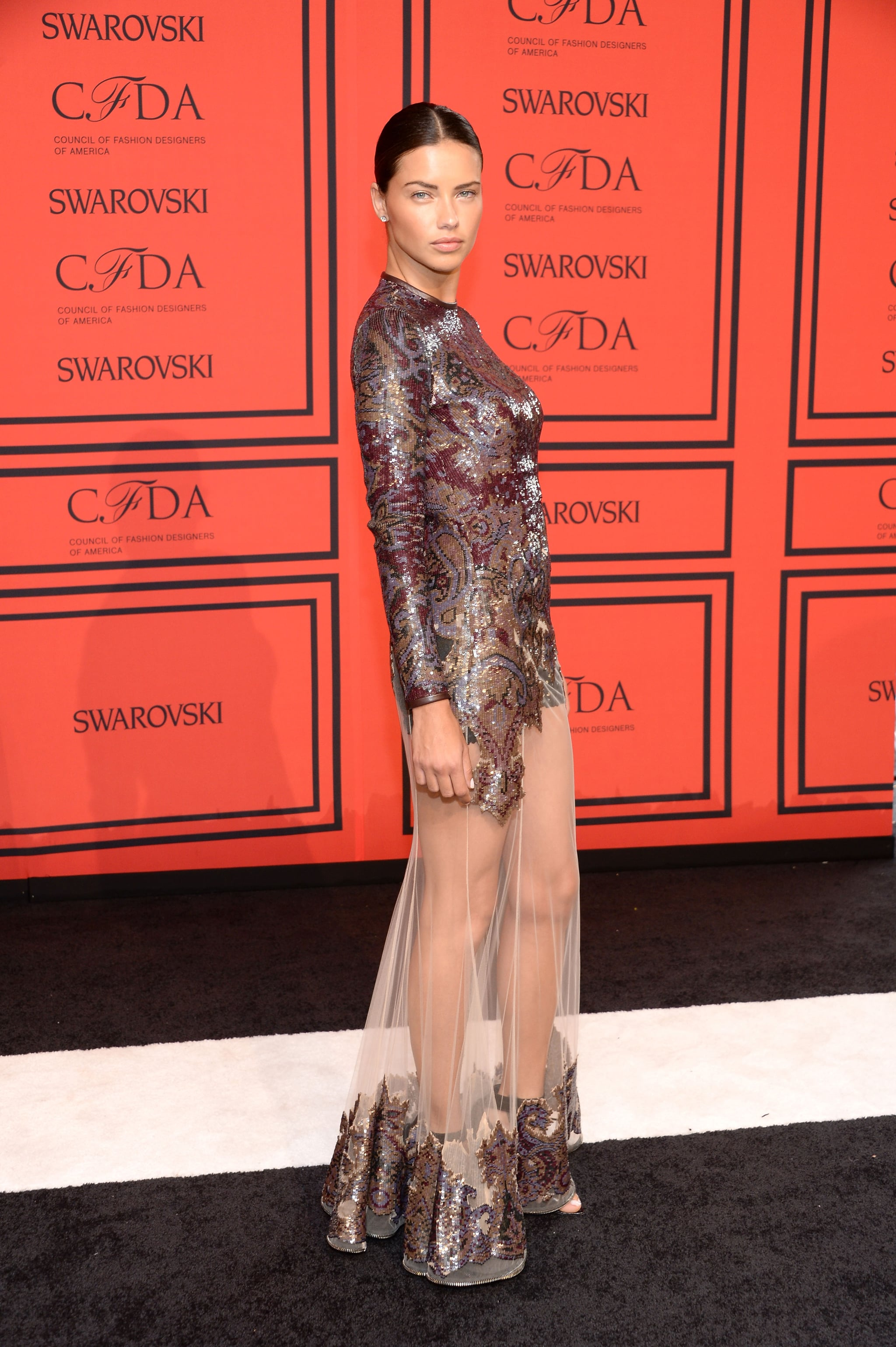 Adriana Lima Worked A Similar Givenchy Gown At The 2013 Cfda Awards Top Model Fabulous Red Carpet Moments From Our Favorite Catwalkers Popsugar Fashion Photo 54