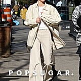 Kendall Jenner's Beige Outfit in New York