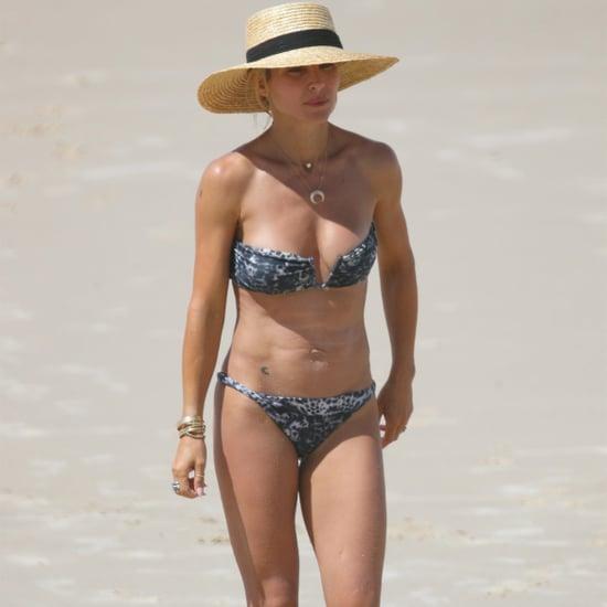 Elsa Pataky Wearing a Leopard Bikini