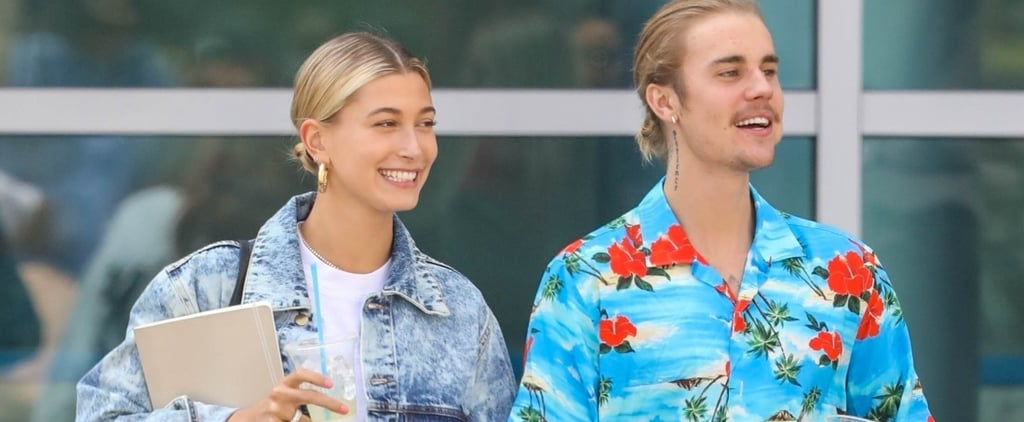 Hailey Baldwin Acid Wash Jeans With Justin Bieber