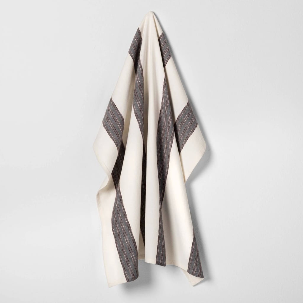 Flour Sack Kitchen Towel in Stripe Rust / Black