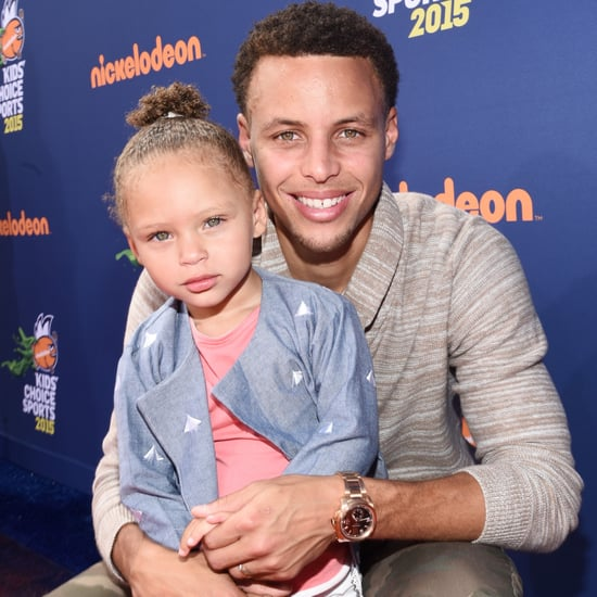 Stephen and Riley Curry at Kids' Choice Sports Awards 2015
