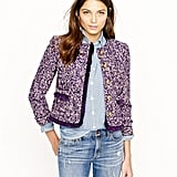 Nothing quite screams ladylike like a tweed jacket. We can't get enough of this purple J.Crew tweed jacket ($180, originally $258). And we dig the way the retailer styled it with denim on denim.