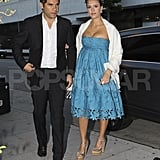 Jessica Alba and Cash Warren get dressed up for a night out in LA.