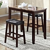 Roundhill Furniture Counter Breakfast Table