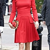 Kate's Pleated Red Dress by Alexander McQueen