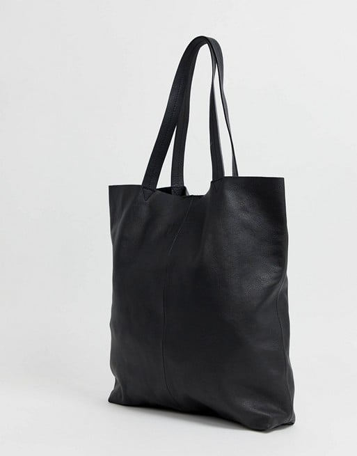 Shop Black Leather Tote Bags