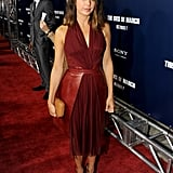 Marisa Tomei wore red to the The Ides of March premiere.