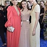 أوليفيا وايلد وكايتلين ديفير ومارغريت كوالي في حفل توزيع جوائز اختيار النقاد لعام 2020