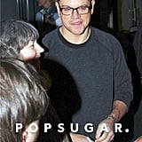 Matt Damon greeted fans in Germany.