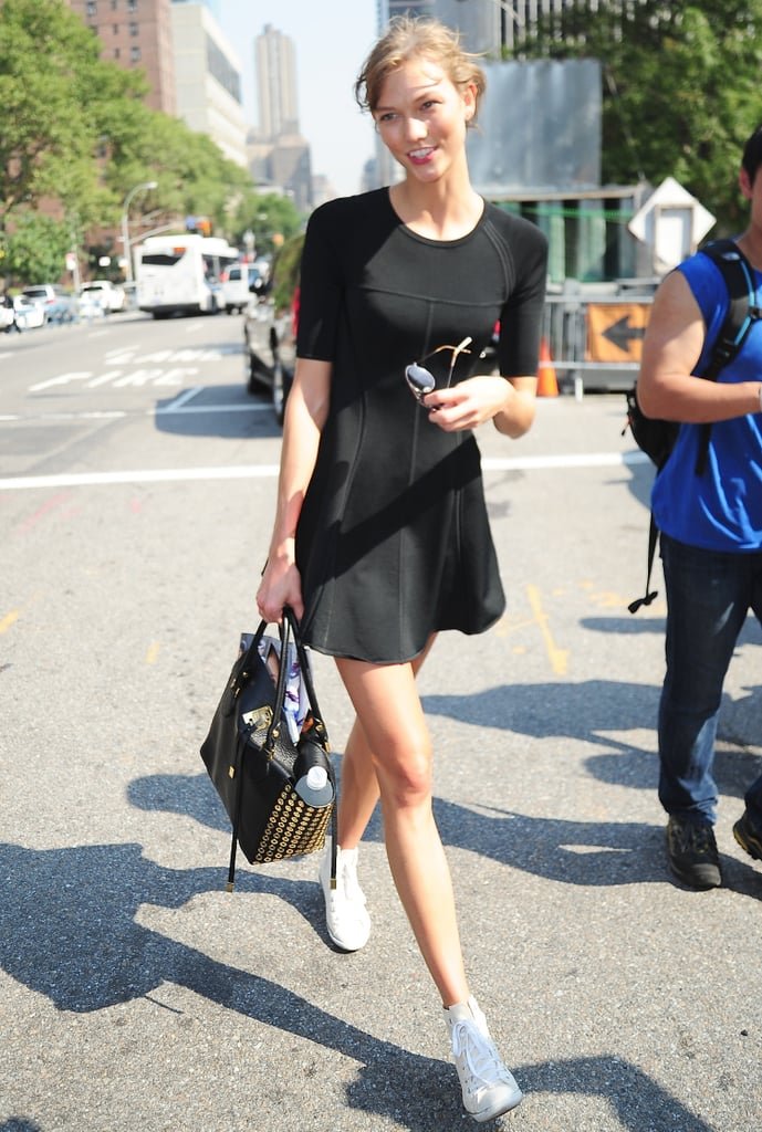 To Offset a Skater Dress and a Statement Bag