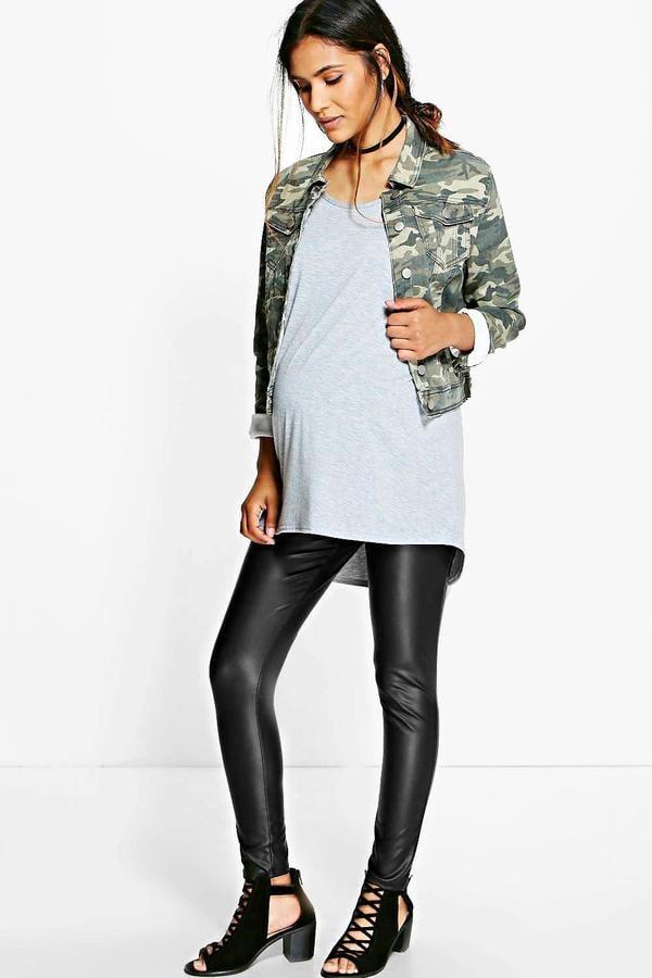 Boohoo Maternity Ivy Leather Look Leggings