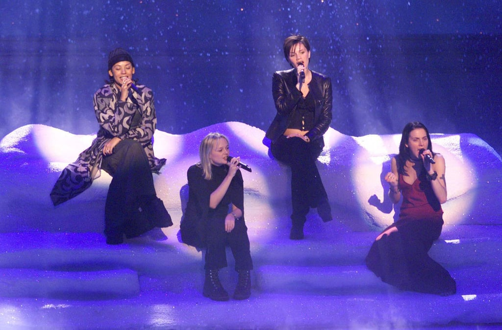 The Spice Girls took the stage at London's Dominion Theatre in January 1998.