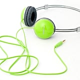 A lightweight and fun neon pop perfect for pairing with bright red lips.  Zumreed Airily Portable Wire Headphones ($32)