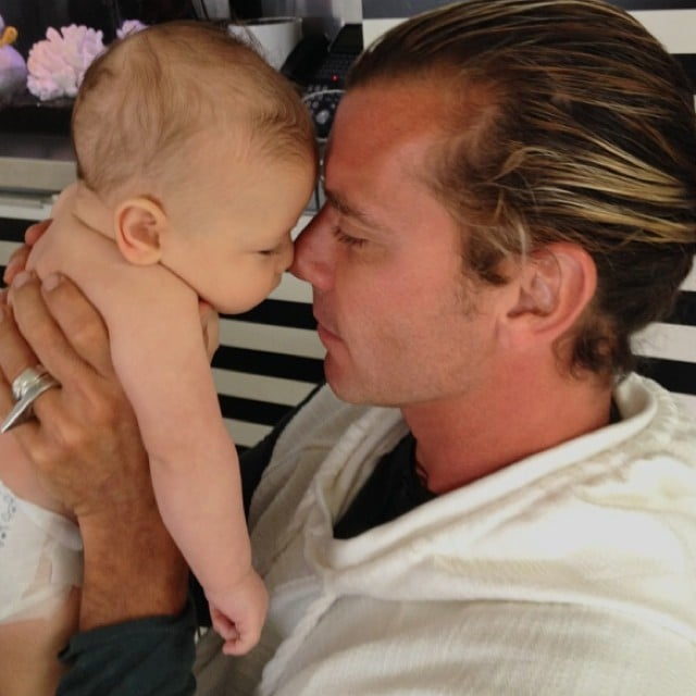 "For Apollo Rossdale's first Father's Day with his dad, Gavin, Gwen Stefani wrote, ""I always thought you'd be a good dad #simplekindoflife #iwasright #happyfathersday @gavinrossdale."" Source: Instagram user gwenstefani"